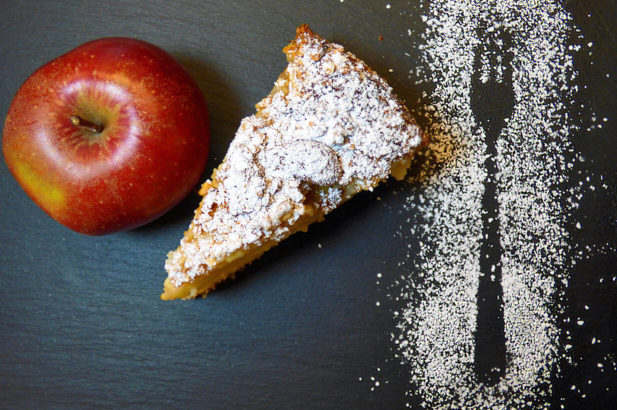 Rezept Apfelkuchen ohne Zucker, zuckerfrei, Kuchen mit Apfel