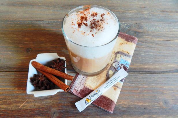 Rezept Chai Latte süß, ohne Zucker, zuckerfrei,