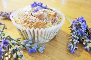 Rezept Lavendel-Apfel-Muffins kalorienarm, Lavendelmuffins, Apfelmuffins