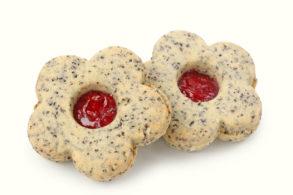 Rezept Mohnkekse mit Birkenzucker, Marmeladenkekse, Mohnplätzchen, Marmeladenplätzchen, Einfache Plätzchen, Weihnachtskekse, Weihnachtsplätzchen, ohne Zucker