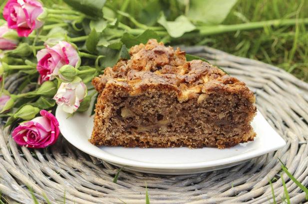 Rezept Nuss-Apfelkuchen mit Birkenzucker, Nusskuchen, Apfelkuchen, zuckerfrei