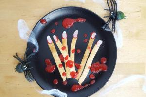 Rezept Gruselfinger mit Erdbeerblut ohne Zucker