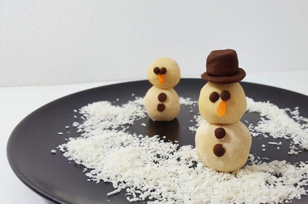 Rezept Kokos-Schneemänner vegan