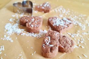 Kakaoherzen mit Kokos zuckerfrei