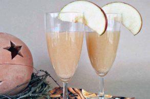Silvester Getränk Sekt mit Frucht