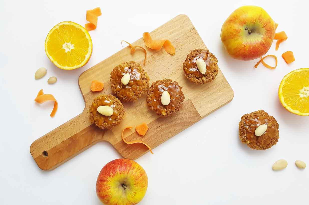 Apfel Karotten Muffins Vegan Birkengold