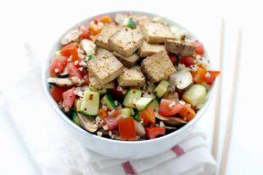 Rezept Tofu süß sauer Quinoa Bulgur Salat ohne Zucker