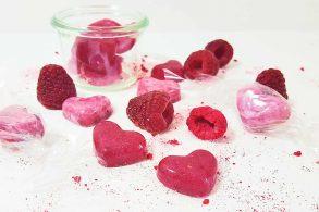 Himbeerbonbons, Erdbeerbonbons, Zuckerfreie Bonbons, Zuckerl, Selbstgemachte Bonbons, ohne Zucker, DIY