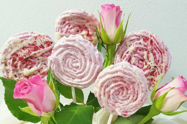 Rezept Himbeer Baiser Rosen zuckerfrei