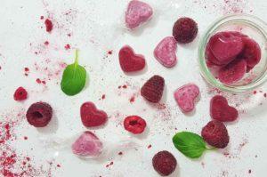 Rezept Himbeer Herzen Bonbons diy mit Xylit