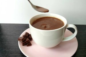 Heiße Schokolade, Minzkakao, zuckerfreie Schokolade, veganer Kakao