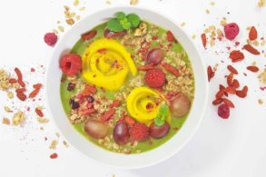 Smoothie Bowl zuckerfrei, Grüner Smoothie