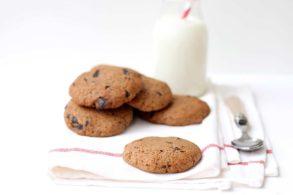 Schoko-Vanille-Kekse zuckerfrei, mit Xylit, Chocolate Cookies, Schokoladekekse mit Vanille