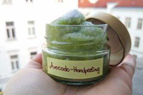 Avocadopeeling, DIY Handpeeling, DIY Avocado-Zitronenpeeling, Körperpeeling selber machen