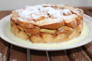 Scheiterhaufen ohne Zucker, Apfel-Brotauflauf, Vanillescheiterhaufen, Apfelauflauf