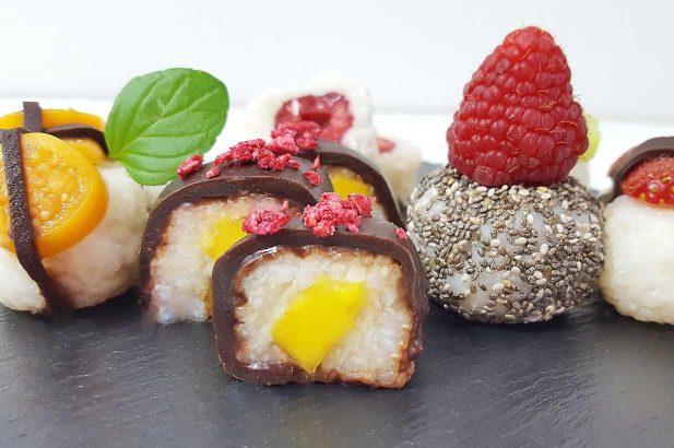 Früchtesushi, Beerensushi, Sushi süß, Sweet Sushi, Sushi mit obst, zuckerfrei, ohne Zucker
