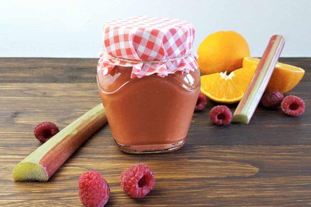 Rhabarbermarmelade, Orangenmarmelade mit Rhabarber, Rhabarber-Orangen-Fruchtaufstrich
