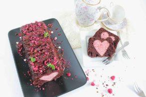 Hidden Heart Cake vegan, Versteckter Herzkuchen, Veganer Herzkuchen, Schoko-Herzkuchen, vegan sponge cake