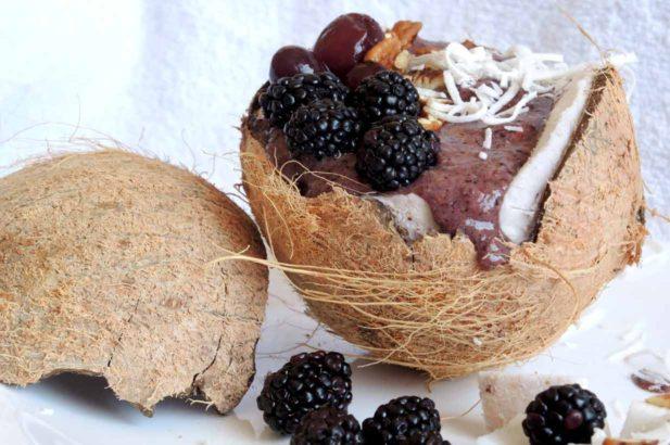 Rezept Kokosnuss Smoothie Superfood Acai diy