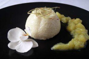Rezept Pudding Vanille Grieß mit Kompott zuckerfrei
