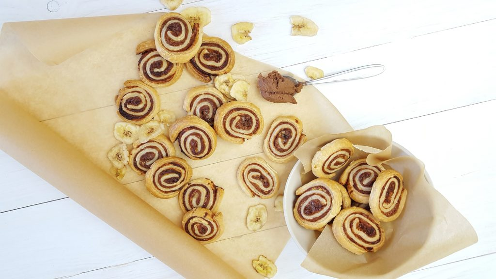 Schoko-Bananen-Schnecken zuckerfrei