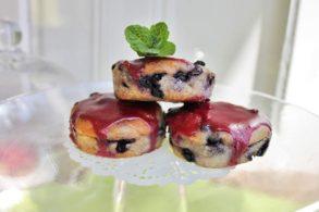 Beerenmuffins, Heidelbeerkuchen, Vegane Muffins, Fruchtmuffins, zuckerfrei, ohne Zucker, Heidelbeertörtchen