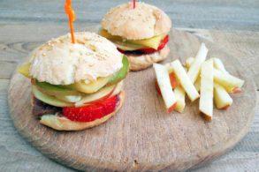 Fruchtburger, Obstburger, Früchteburger, Burger süß, Burger mit Obst, zuckerfrei, Burger Buns