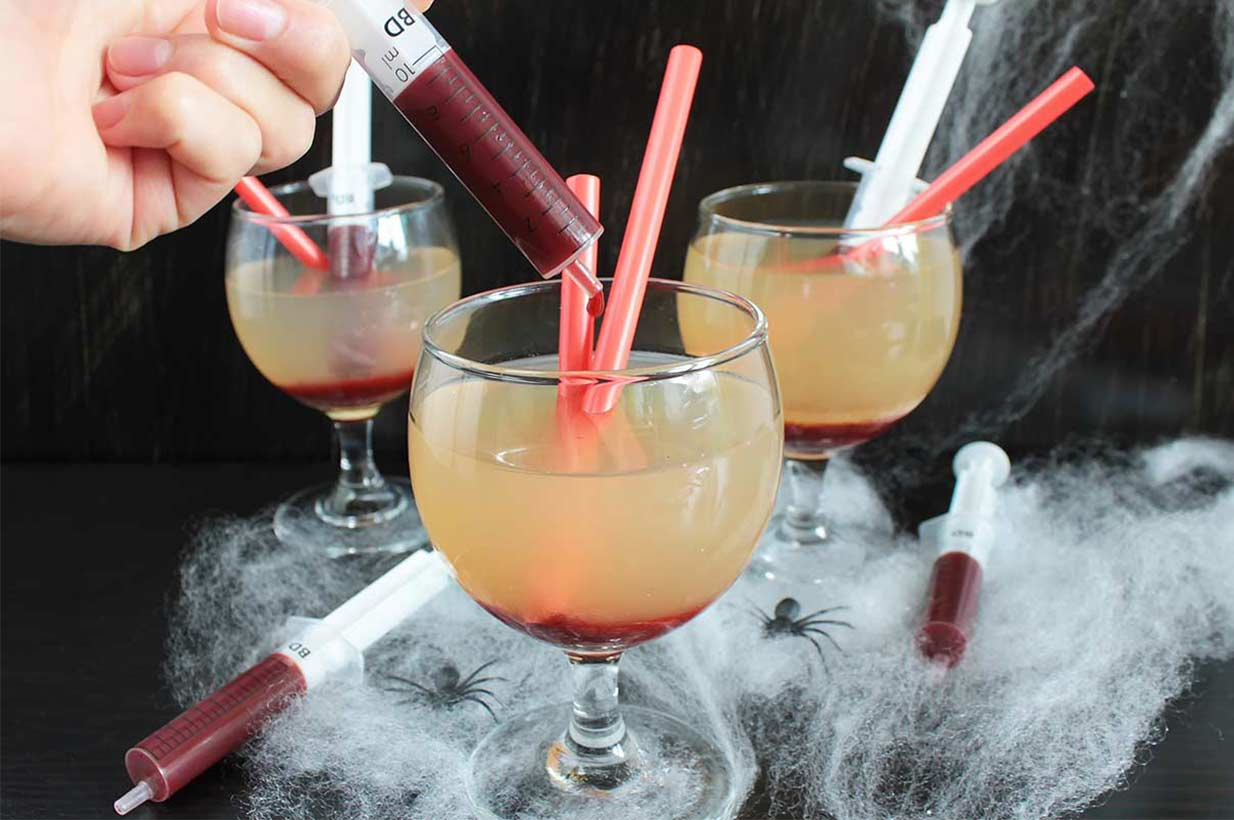 Halloween Cocktails alkoholfrei - Birkengold