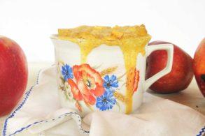 Apfelkuchen, Tassenkuchen, Mikrowellenkuchen, Tassenkuchen mit Apfel, zuckerfrei, ohne Zucker