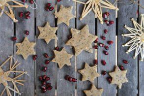 Rezepte Chiakekse, Kekse ohne Backen, Einfache Kekse, 3 Zutaten Kekse, Chiasterne, zuckerfrei, ohne Zucker