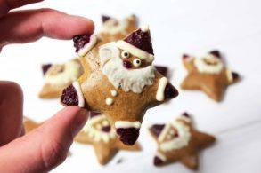 Lebkuchen, Nikolauslebkuchen, Weihnachtskekse, zuckerfrei, ohne Zucker, Sternenkekse, Lebkuchensterne, Nikolaussterne