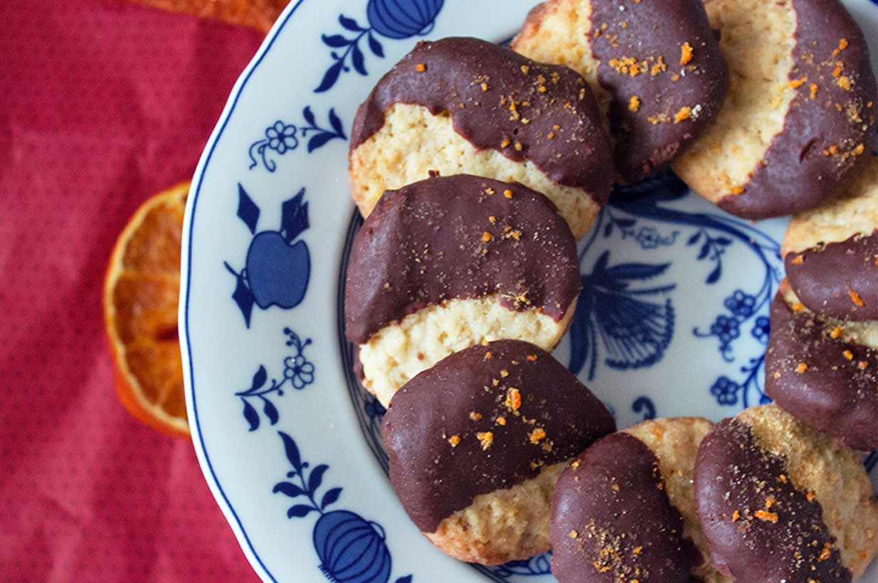 orangen schoko kekse ohne zucker birkengold. Black Bedroom Furniture Sets. Home Design Ideas