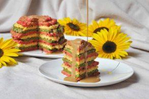 Waffle Tower, Waffelturm, Waffeln, rüne Waffeln, Rote Waffeln, zuckerfrei, ohne Zucker