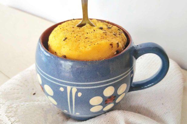 Tassenkuchen, Vanillekuchen, Mikrowellenkuchen, zuckerfrei, ohne Zucker
