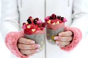Chiadessert, Nicecream, Valentinstag Rezept, Chiapudding, zuckerfrei