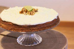 Karottentorte, Torte mit Karotten, Kuchen mit Karotten, Limettentorte, Limettenkuchen, zuckerfrei
