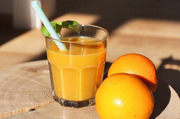 Orangensmoothie, Mangosmoothie, Apfelsmoothie, Exotischer Smoothie, Früchtesmoothie, Obstsmoothie, zuckerfrei, ohne Zucker