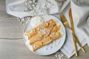 Kokospancakes, Kokospalatschinken, Exotische Pfannkuchen, Coconutpancakes, zuckerfrei, gesunde Pfannkuchen