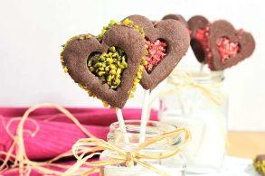 Nougat selber machen, Nougatcreme selber machen, Mürbteig vegan, Cookiepop, Kekse am Stiel, zuckerfreie Dekoration, Herzkekse, zuckerfrei, ohne Zucker