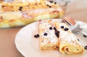 Quarkpalatschinekn, Topfenpfannkuchen, Quarkpfannkuchen, Pfannkuchen gefüllt, Süße Pfannkuchen, Zuckerfrei, ohne Zucker