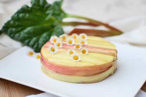 Rhabarberkuchen, Käsekuchen, Rhuburb Cheesecake, zuckerfrei