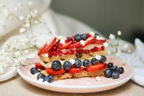 Haferkuchen, Frühstücksschnitte, Glutenfreie Schnitte, Haferflockenkuchen, Haferriegel, glutenfrei, zuckerfrei