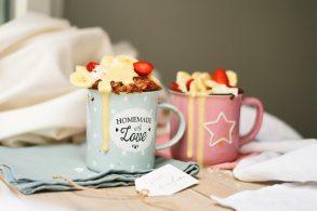 Beerenkuchen, Mikrowellenkuchen, Einfacher Tassenkuchen, Ruckzuckkuchen, Schneller Kuchen, zuckerfrei, ohne Zucker