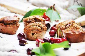 Cherry Muffins, Kirschmuffins, Kirschenmuffins, Kirschen Muffins