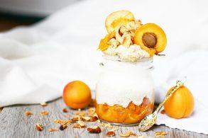 Aprikosenfrühstück, Marillenbrei, Aprikosenbrei, Marillenjoghurt