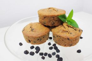 Superfood Küchlein, Aroniabeeren Muffins, Maca Muffins, Dinkelvollkorn Muffins