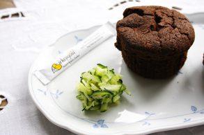 schokoladige Zucchinimuffins, Muffins mit Schoko und Zucchini, Schokomuffins mit Zucchini
