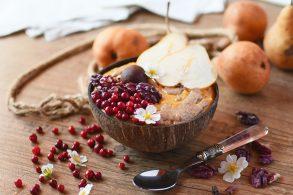 Kürbisbrei, Haferbrei mit Kürbis, Kürbis-Haferbrei, Kürbis Porridge, Pumpkin Porridge, Pumpkin Spice Porridge