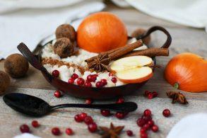Weihnachtsmilchreis, Apfel Milchreis, Herbst Milchreis, Wintermilchreis