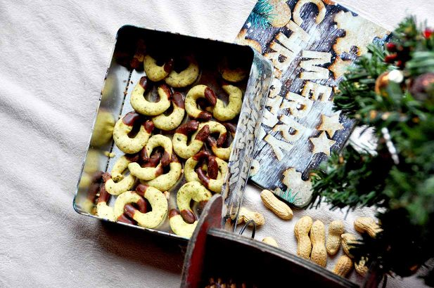 Kürbiskernkipferl, Kipferl mit Kürbiskernen, Kürbiskern Kekse